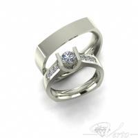 6. 14Krt  Trouwringen met diamant leverbaar vanaf 2500,-  Paar