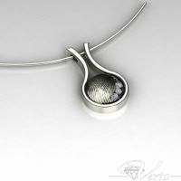 Zilveren vingerafdruk hanger